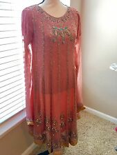 Pakistani Indian Punjabi Anarkali Not Sana Safinaz Pink Chiffon Eid Dress