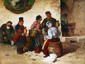 PAINTING-INTERIOR-STUDY-BOHM-MUNICH-BEER-HOUSE-POSTER-ART-PRINT-BB12790B
