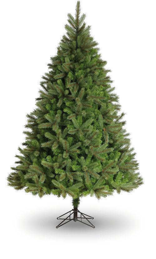 7.5ft Leicester Pine Artificial Christmas Tree Blau Grün PVC Pine