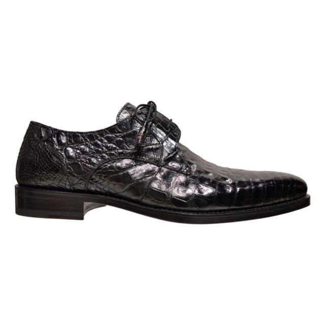 01a1731aae0 Mezlan Anderson Men's Genuine Crocodile Skin Oxford Lace Up Shoes Black
