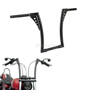 Noir-1-1-4-034-Rise-Poignees-Guidon-16-034-barre-Ape-Hangers-Bars-Pour-Harley-Davidson