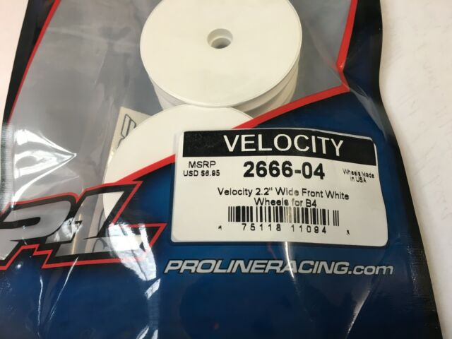 PROLINE PL2666W TEAM ASSOCIATED B4 B4.1 Velocity Front White Wheels x 3 PAIRS