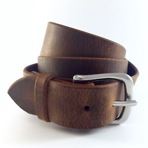 Boston Mens Full Grain Leather Aged Belt Made in the USA