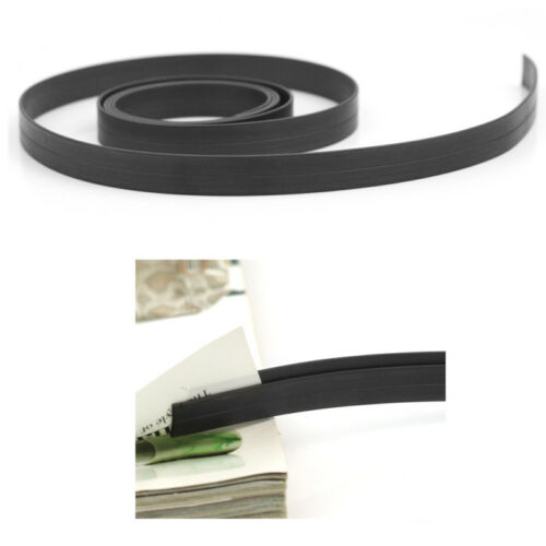 1PC Black 1m 3 Feet Long Rubber Flexible Magnetic Tape Craft Sticky Magnet Strip