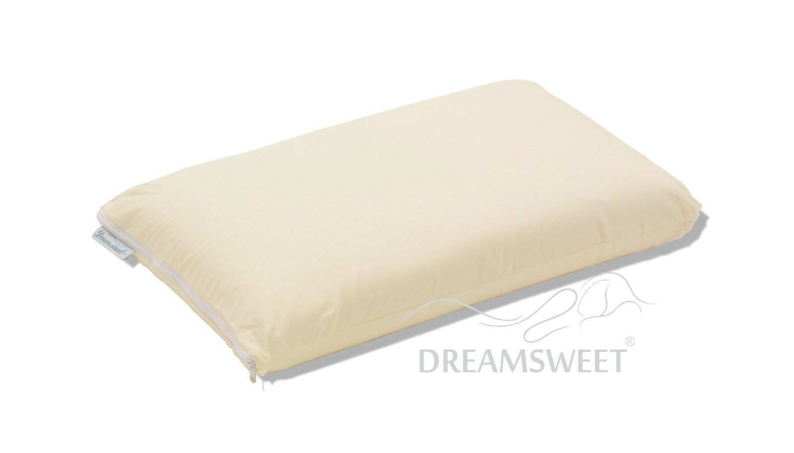 Brazilian Natural Latex Classic Shape Pillow with Cotton Cover, Queen Std