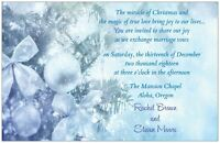 30 50 80 100 Christmas White Blu Winter Wonderland 5x7 Wedding Invitation Custom