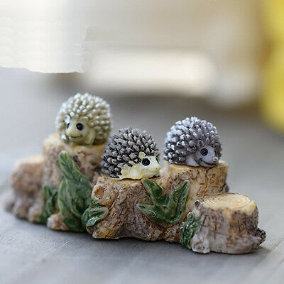 Mini Small Hedgehog Micro Landscape Resin Bonsai Garden Ornament Color Random