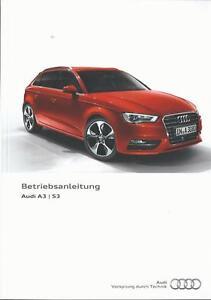 AUDI-A3-S3-Limousine-Sportback-8V-2016-Betriebsanleitung-Handbuch-BA