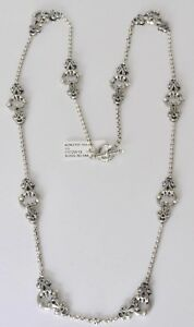 Konstantino-36-034-Necklace-Chain-Sterling-Silver-10-Stations-Classic-New