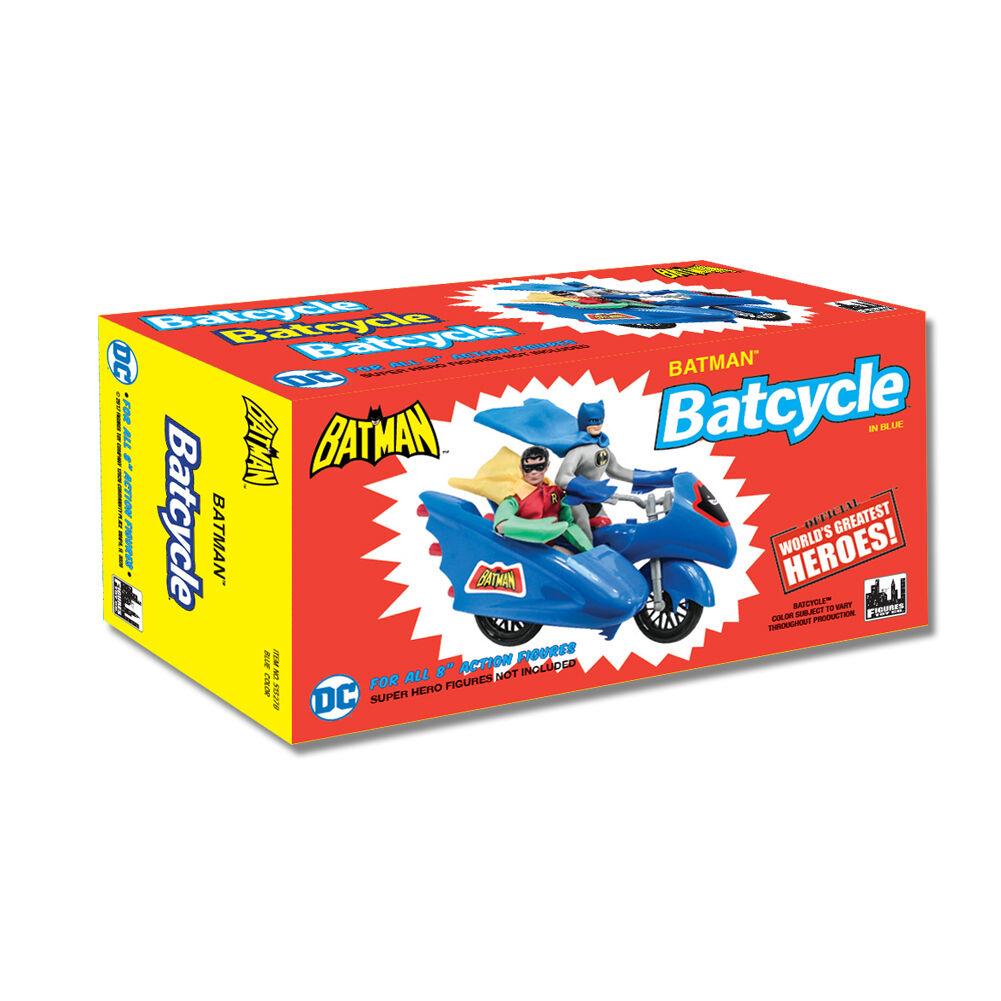 Dc comics retro - batman batcycle playset  blau (