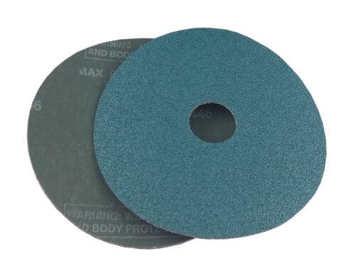 """Resin Fiber Grinding Discs Zirconia 7/"""" x 7//8/"""" 50 Grit, 25 Pack"""
