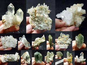 Natural-Stunning-Lot-of-Chlorite-Quartz-Crystals-Specimens-Pakistan-16Pcs-1-7kg
