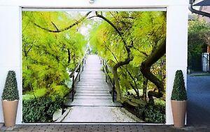 3D-Bridge-tree-88-Garage-Door-Murals-Wall-Print-Decal-Wall-Deco-AJ-WALLPAPER-AU