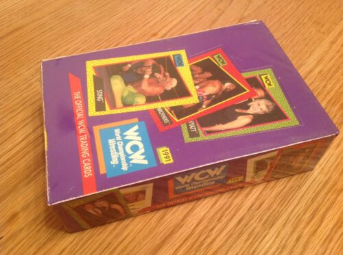 Caja sin abrir Wcw Impel Wrestling Trading Cards 1991 paquetes de 36