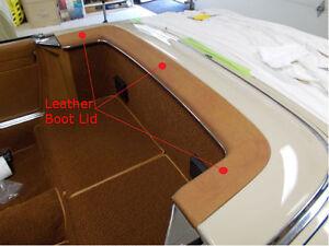 Mercedes SL W113 230SL 250SL  280SL Leather Boot Lid Cover 63-71