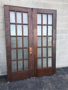 Image Is Loading Cm 230 Antique Pair Burch French Doors 5
