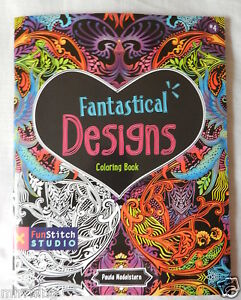Image Is Loading 034 Fantastical Designs Colouring Book For Adults