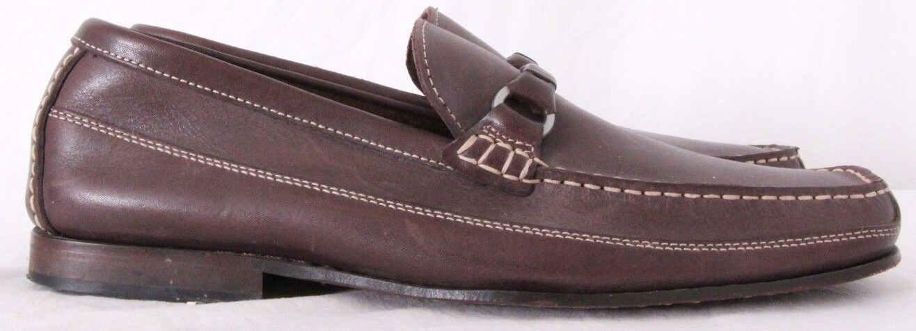 Rockport 11805 DMX Leather Moc Toe Stitched Casual Slip On Loafers Men's US 9M