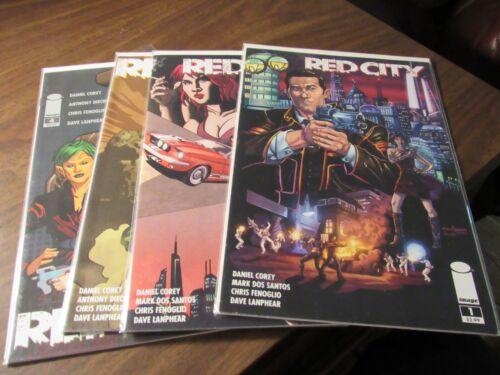 Red City #1 2 3 4 Image Daniel Corey Comic Book Set 1-4 Mini Series Complete