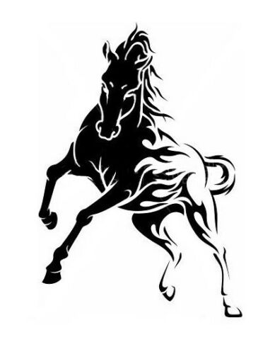 high detail airbrush stencil tribal horse  FREE UK POSTAGE