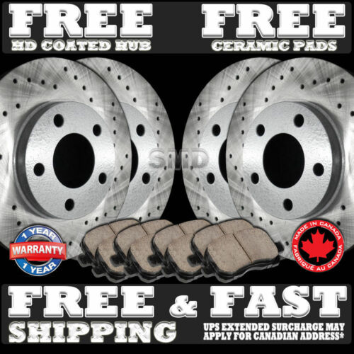 P1104 FIT 2011 2012 Hyundai Elantra 1.8L Rotor Ceramic Pads F+R 4-Wheel-DISC