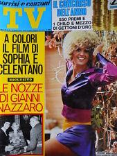 TV Sorrisi e Canzoni n°44 1971 Minni Minoprio - Sofia Loren & Celentano  [C72]