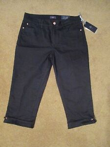 31aada013c NYDJ Not Your Daughters Jeans Womens Size 10P Black Jean Crop Capri ...