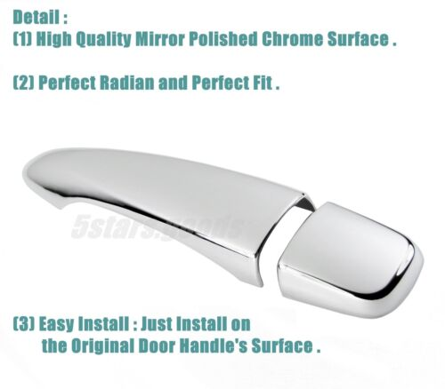 Chrome Smart Key Side Door Handle Covers Trims For 2017-2018 Nissan Rogue Sport