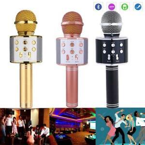 Wireless-Bluetooth-Karaoke-Microphone-Stereo-Mic-KTV-USB-Speaker-Player-WS-858