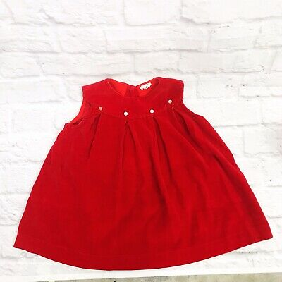 Vintage SEARS toddler Girls Dress Size 3t Red Velvet ...