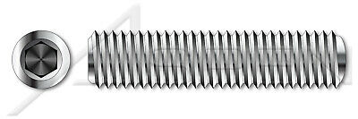 AISI 304 Stainless Steel 40 pcs Full Thread #2-56 X 3//16 18-8 Cup Point Hex Socket Set Screws