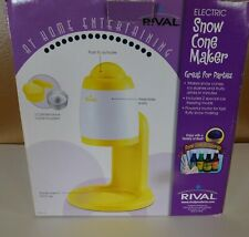 Rival Electric Snow Cone Maker Shaved Ice Yellow Amp White In Box