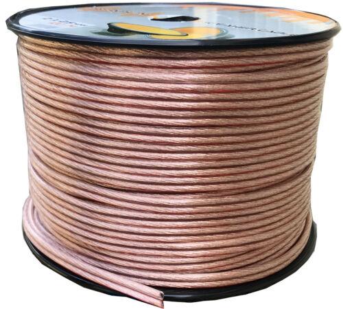 100 Metri Cavo Filo per Altoparlanti 100m 2 x 2,5mm² Audio Cavi Box Casse Kabel