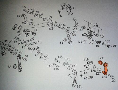 Rep-Satz Schaltung Schaltstangen Mittelschaltung W201 W124 mit 5 Gang 12 tlg