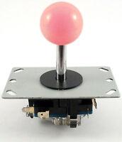Sanwa Style Ball Top Arcade Joystick, 8 Way (Pink) - MAME, JAMMA