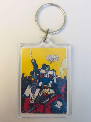 Megatron Optimus Prime Vintage Transformers Comic Poster de porte-clés chaîne porte-clés