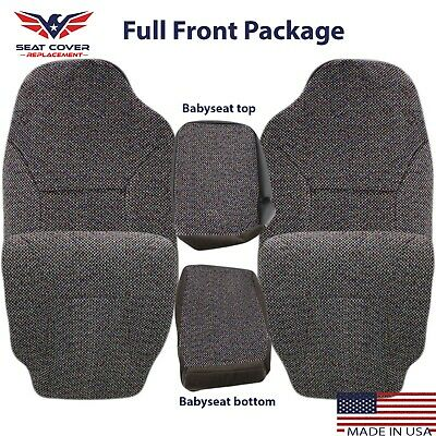1999 2000 2001 2002 Jeep Driver Bottom Synthetic Leather Seat Cover Gray