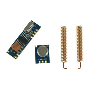 433MHz 100 Meters ASK Wireless Module Kit RF Transmitter/&Receiver with Antenna