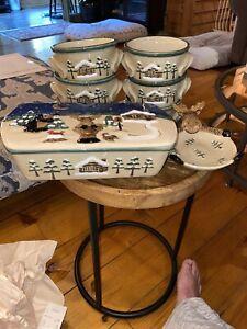 SONOMA-LODGE-BEAR-amp-MOOSE-Rustic-Soup-Bowls-Set-Of-6-Casserole-Dish-Dish