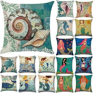 18-034-Ocean-Beach-Sea-Cotton-Linen-Pillow-Case-Sofa-Throw-Cushion-Cover-Home-Decor