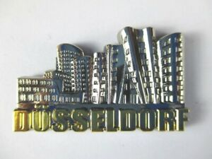 Duesseldorf-3D-Metall-Magnet-Metallic-silber-Germany-hochwertig