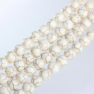 Wholesale Natural White Turquoise Gemstone Round Spacer Loose Beads 4//6//8//10mm