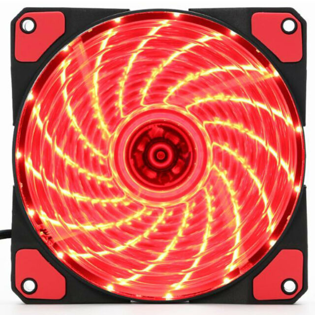 120mm 15 LEDs 12V 9 Blades Ultra Silent Computer PC Case Cooling Fan Cooler Red