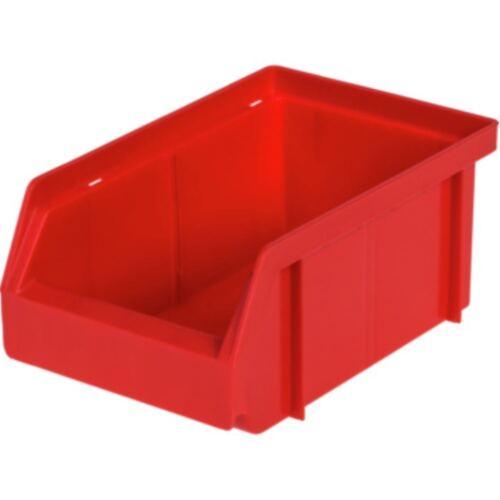 10x HK Sichtlagerkasten aus Polypropylen Gr.4 161//140x106x75 mm rot
