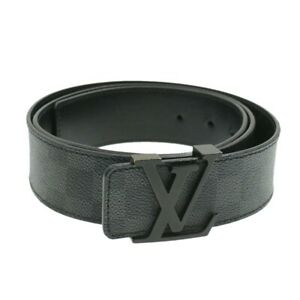 LOUIS-VUITTON-Damier-Graphite-Ceinture-Initial-Belt-M9808-LV-Auth-cr632