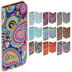 For OPPO Series Paisley Pattern Theme Print Wallet Mobile Phone Case Cover