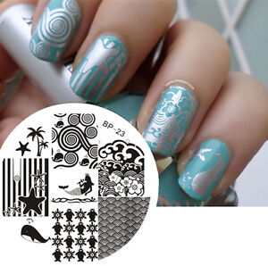 Image Is Loading Born Pretty Nail Art Stamping Plate Ocean Theme