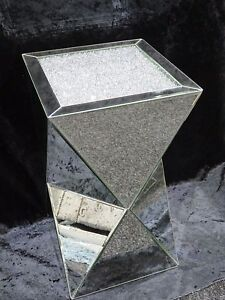 X-LARGE-LUXURY-CRUSHED-DIAMOND-MIRRORED-PEDESTAL-MIRRORED-LAMP-TABLE