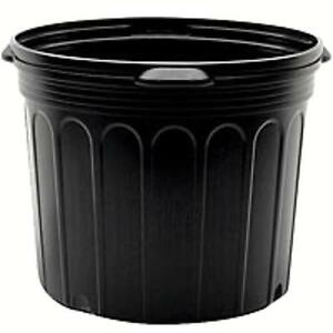 Image Is Loading 7 Gallon Black Nursery Pots Qty 6 Plastic