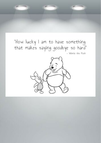 Winnie the Pooh Quote Poster Art Print A0 A1 A2 A3 A4 A5 Maxi
